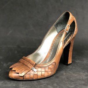 BOTTEGA VENETA leather loafer heels